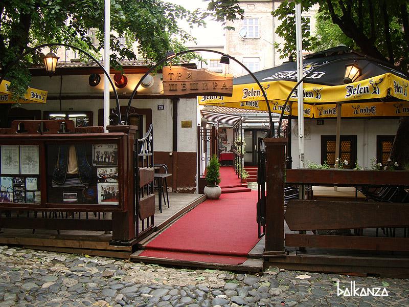 "Ресторан ""Три Шешира"" в Скадарлии, Белград, Сербия"
